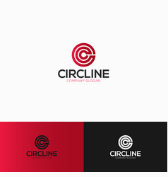 circle is a letter c logo with line art style vector image