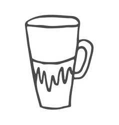coffee cup doodle isolated on vector image