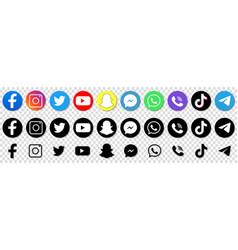 Collection popular social media logo vector