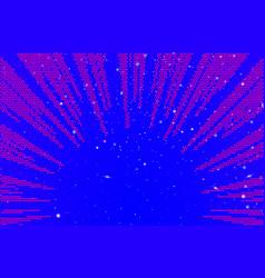 comic explosion rays background in pop art retro vector image