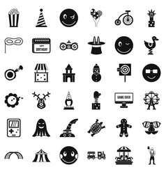 Crazy icons set simple style vector