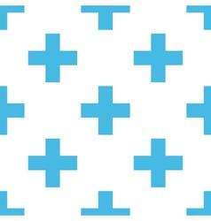 Cross seamless pattern vector image