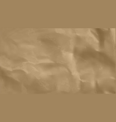 crumpled brown craft paper background simple vector image