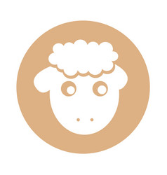 Cute sheep drawing character vector