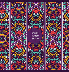 dayak borneo colorful pattern background vector image