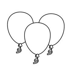 decorative balloon isolated vector image