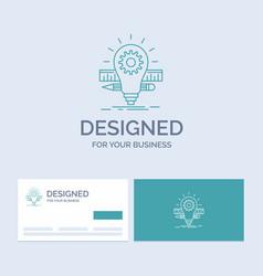 development idea bulb pencil scale business logo vector image