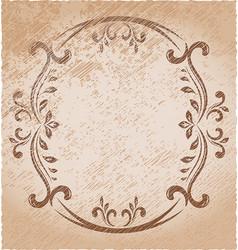 elegant oval frame vector image