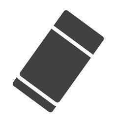 Eraser solid icon education and school rubber vector