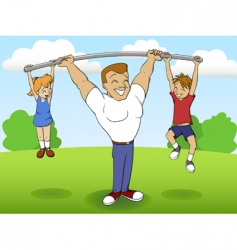 family sports vector image