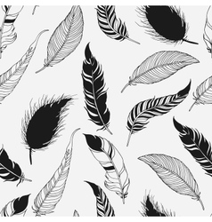 Feather tribal seamless pattern vector image