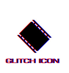 film reel icon flat vector image
