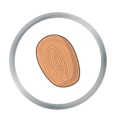 Fingerprint icon in cartoon style isolated on vector image