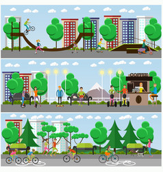 flat means of transport concept posters vector image