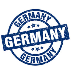 germany blue round grunge stamp vector image