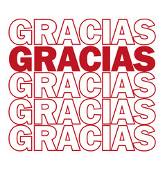 Gracias thank you in spanish motivating vector