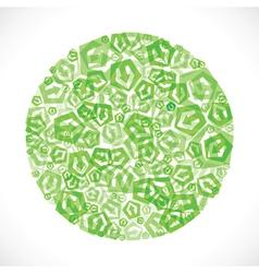 Green small arrow icon design stock vector image