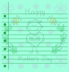 Greeting card mother day design collection vector