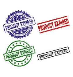 Grunge textured product expired seal stamps vector