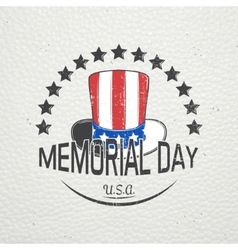 Happy Memorial day set The celebration of vector image
