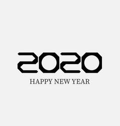 happy new year 2020 logo text design vector image