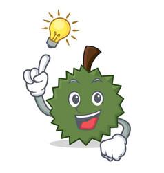have an idea durian mascot cartoon style vector image