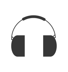 Headphone industrial security icon vector