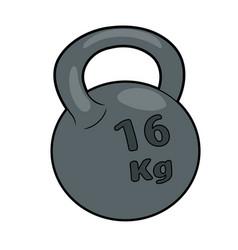 Heavy iron kettlebell vector