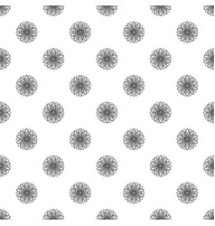 Herb bio flower pattern seamless vector