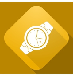 icon of Watch with a long shadow vector image