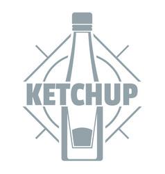 ketchup logo simple gray style vector image
