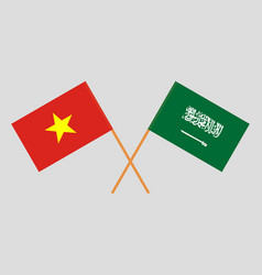 Kingdom of saudi arabia and vietnam flags vector