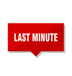 Last minute red tag vector
