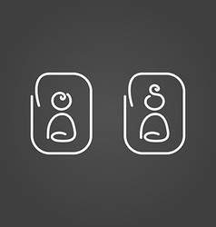 Man and woman icons draw effect vector image