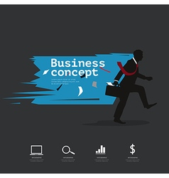 Modern infographic with silhouette businessman vector
