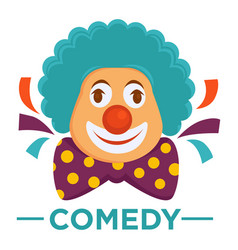 Movie genre comedy cinema icon of clown vector