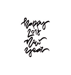 new year hand drawn lettering vector image