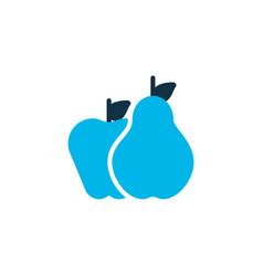 pear with apple icon colored symbol premium vector image