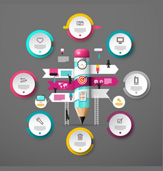 presentation concept with infographic elements vector image