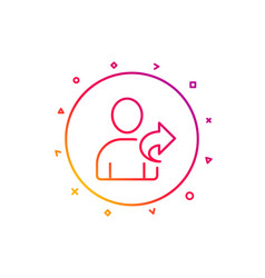 Refer a friend line icon share sign vector