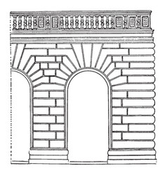 Rustication was first treated systematically vector