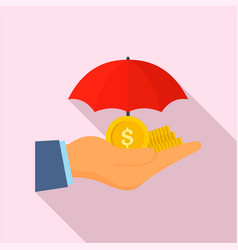 safe money hand icon flat style vector image