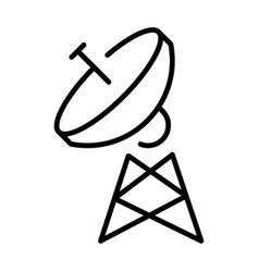 Simple monochrome radio tower antenna linear icon vector