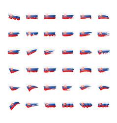 slovakia flag on a white vector image
