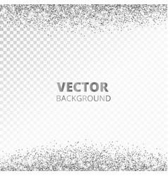 sparkling glitter border frame falling silver vector image