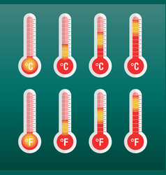 thermometers icon with different levels flat on vector image