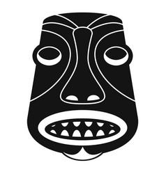 Tiki idol icon simple style vector