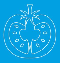 Tomato icon outline style vector