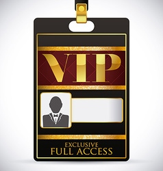 VIP card design vector