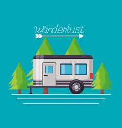 wanderlust explore landscape vector image